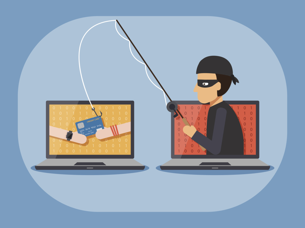 Illustration einer Phishing-Attacke