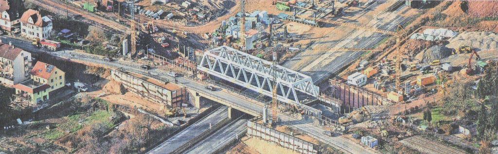 700-Tonnen Eisenbahnbrücke