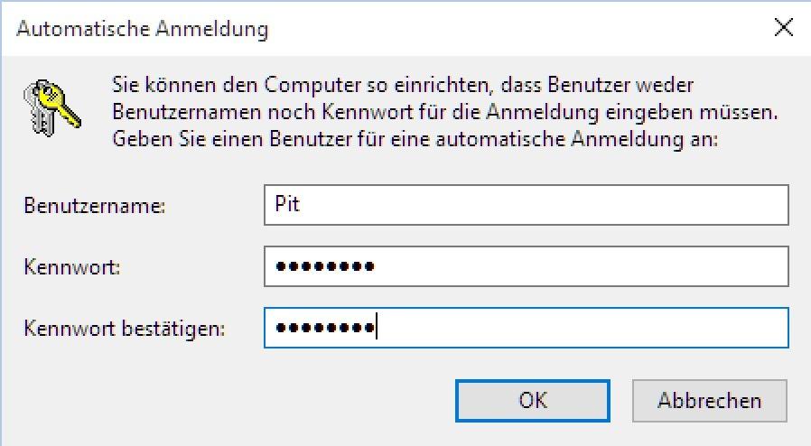 ohne passwort anmelden windows 10