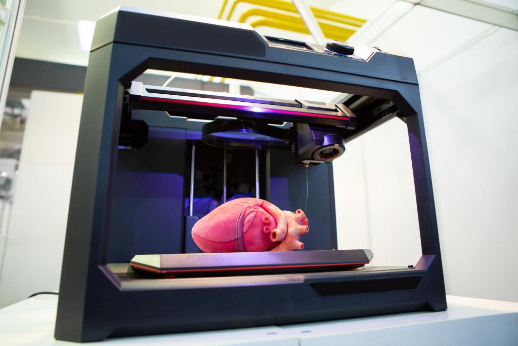 3D-Drucker druckt Herz