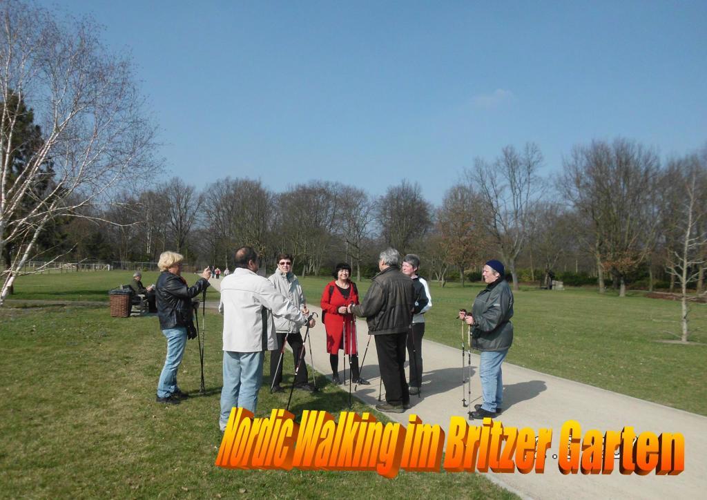 Nordic Walking im Britzer Garten 1