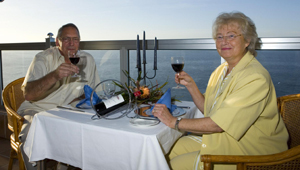 Klaus und Margit beim Dinner