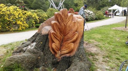 gestalteter Baumstumpf