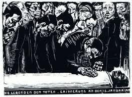 Liebknecht auf Totenbett