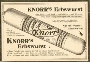 Werbung für Knorr Erbswurst