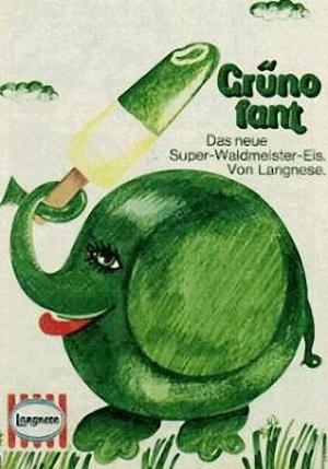 Grünofant Milcheis aus den 1970er Jahren