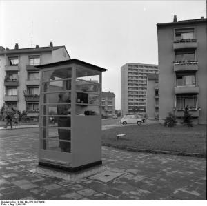Telefonzelle 1961 in Frankfurt am Main