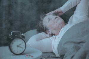 schlaflose Frau