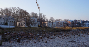 Perlenkette Heiligendamm vom Strand aus gesehen