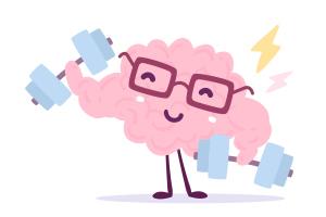 Illustration Gehirn beim Trainieren