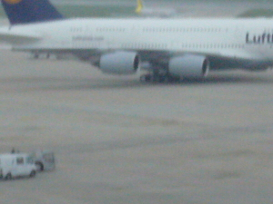 Airbus A380 in Stuttgart