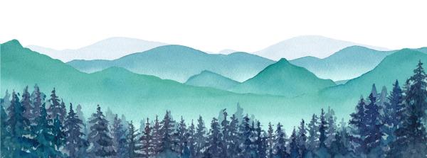 Zeichnung Berge im Schnee