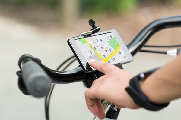 Fahrrad-App an Fahrradlenker