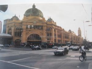 Bahnhof Melbourne. Flinders Street Station