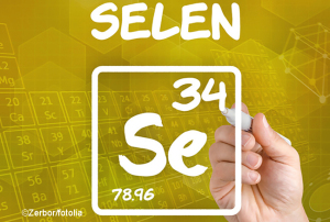 Symbol vom Element Selen