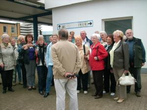 Manfred begrüßt die Besucher