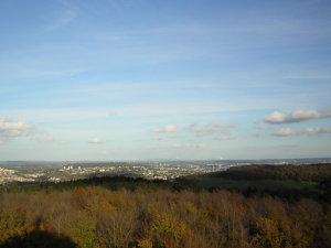 Dreiländerpunkt Blick auf Aachen