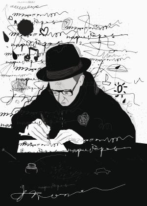 Zeichnung eines Autors