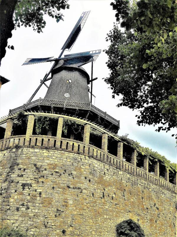 Die historische Windmühle
