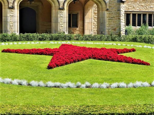 Der rote Stern vom Schloss Cecilienhof