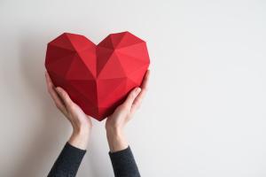 Herz in zwei Händen