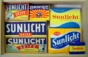 Sunlicht Seifen aus verschiedenen Jahrzehnten