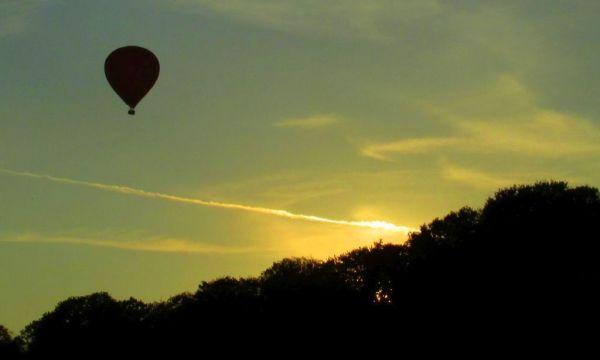 Balonfahren übern See