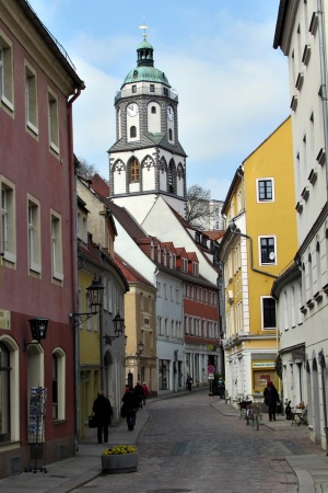 Ev.Frauenkirche-spätgotische Hallenkirche. Eröffnet 1455