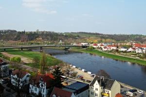 Blick vom Schlossberg auf die Elbe