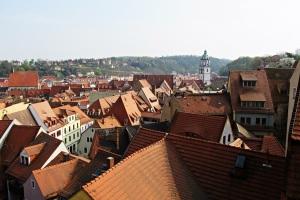 Faszinierender Blick auf die verschachtelten Dächer von Meißen
