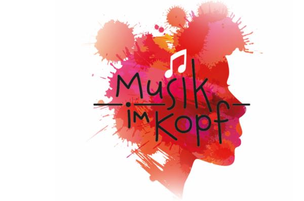 Musik im Kopf - Zeichnung mit Kopf und Musiknote
