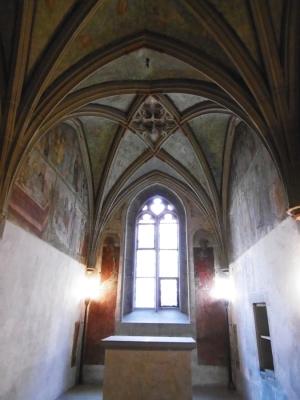 Sylvester-Kapelle war vollständig ausgemalt Altar 1317,