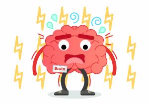 Zeichnung gestresstes Gehirn