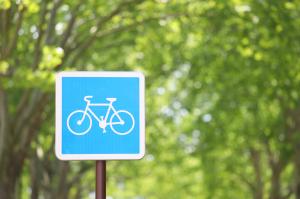 Schild mit Fahrrad