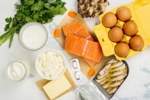 kalzium- und vitamin d-haltige Lebensmittel