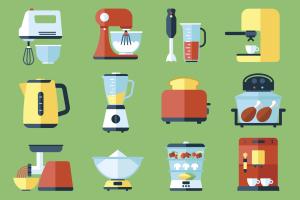 Zeichnung von elektrischen Küchenhelfern