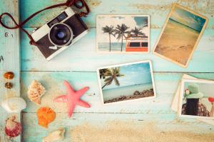 Urlaubsfotos und Kamera
