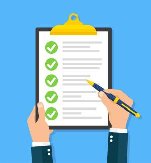 Zeichnung einer Checkliste