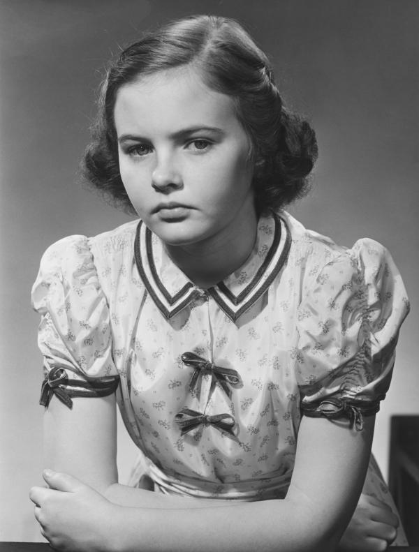 Junges Mädchen in den 50ern