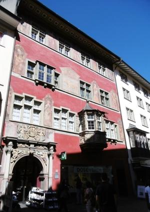 Zum Goldenen Ochsen, Häuser des alten Schaffhausen bis 1608 Herberge