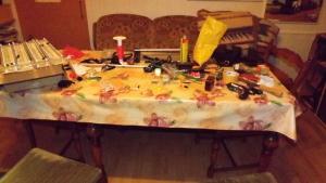 Bild 01 Eddy´s Chaos auf dem Basteltisch
