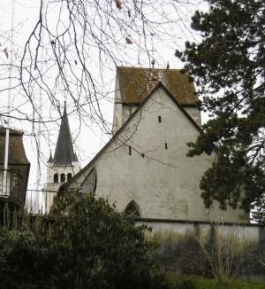 Überm Seepark die beiden Kirchen