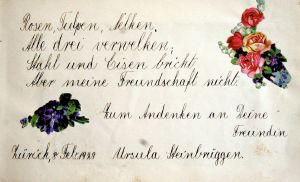 Poesiealbumseintrag von 1929