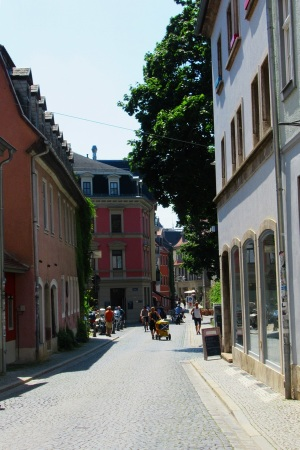 Straßenszene i.d.Altstadt