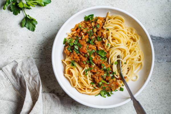 Vegetarische bzw. vegane Bolognese