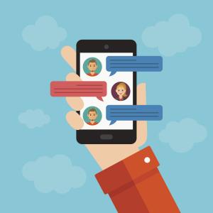 Illustration eines Smartphones