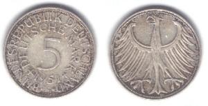 5 DM Münze aus dem Jahr 1951
