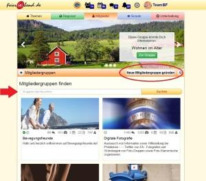 Screenshot Mitgliedergruppen