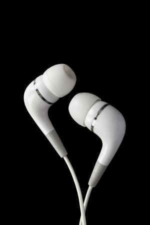 weiße In-Ear-Kopfhörer