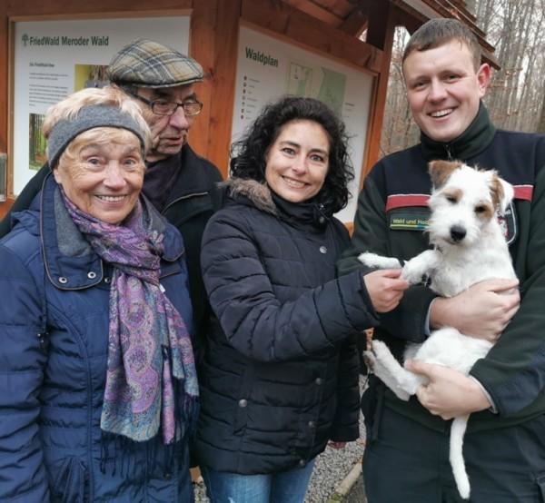Nicole Kaiser mit Eltern und Friedwald Förster